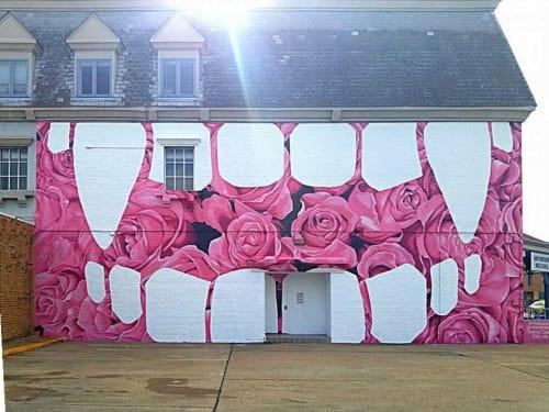 Street Murals by Carl Floyd Medley III seen at 801 Boush St, Norfolk - Bloom