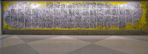 Murals by Paul Santoleri seen at Philadelphia International Airport, Philadelphia - Flight Pattern
