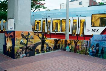 Street Murals by William Park seen at 728 SW 11th Ave, Portland - City United, Country United