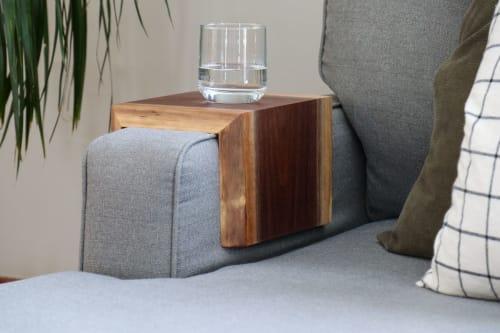 Live Edge Walnut Armrest Table | Tables by Hazel Oak Farms