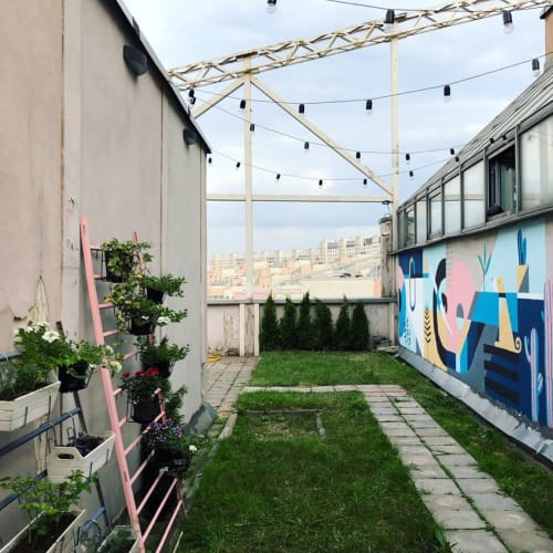 Art Curation by Kiro seen at Private Residence, Moscow - Mural / Rooftop