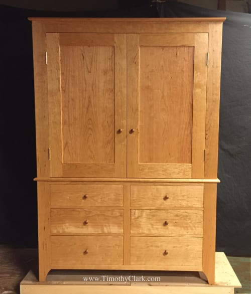 Furniture by Timothy Clark, Cabinetmaker/Chairwright seen at Private Residence, New York - Wardrobe and Chest of Drawer