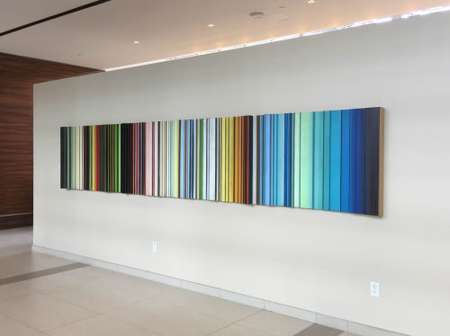 Paintings by Roi James Studio seen at One Frost, San Antonio - Commissioned Construct