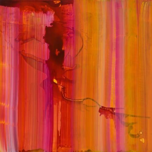 Paintings by Naomi Schlinke seen at Gensler, Austin - Ink Paintings