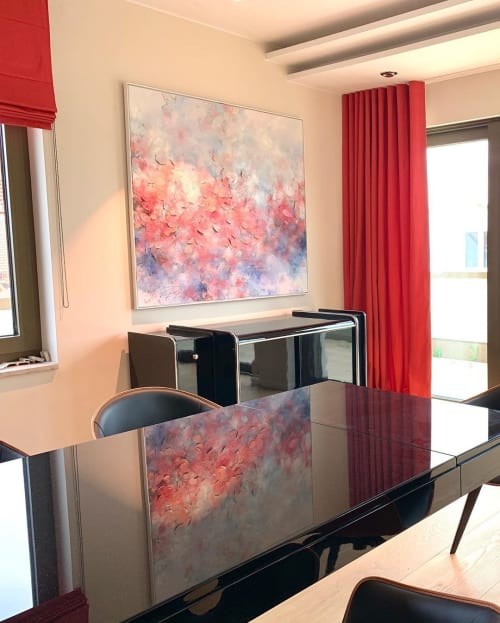 "Paintings by Frederic Paul seen at Private Residence, Munich - ""Bloomy Reflections"" Painting"