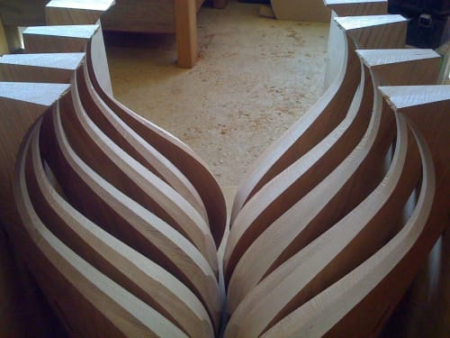 Tables by Joe Mellows Furniture Makers seen at Private Residence, London - Onion Table