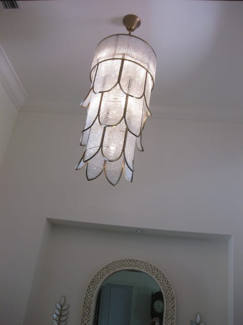 Chandeliers by Prestige Chandelier | Custom Designs seen at California, USA - Crystal Flower Chandelier