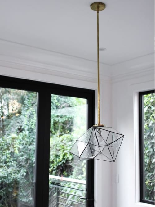 Pendants by Jason Koharik (Collected By) seen at Private Residence, San Francisco - Geo Glass Cubic Pendant