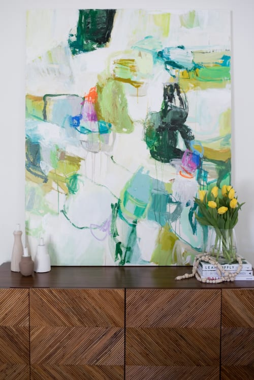 """Paintings by Erin Donahue Tice Fine Art seen at Private Residence, Austin - """"Breathing in Nature"""""""