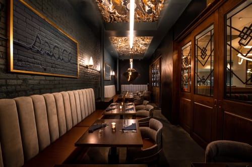 Chandeliers by Jason Koharik (Collected By) seen at Simone Restaurant, Los Angeles - Custom Sculptural Lighting
