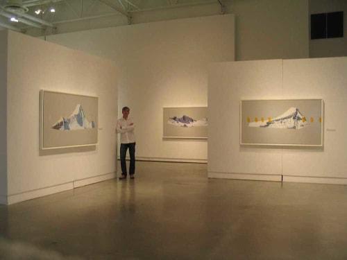 Paintings by David Pirrie seen at Surrey Art Gallery & Surrey Arts Centre, Surrey - Gallery Shot