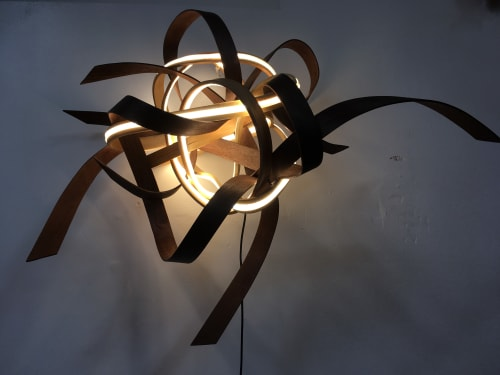 Lighting by Art of Plants and Elliptic Designs seen at Private Residence - Wall light no.1