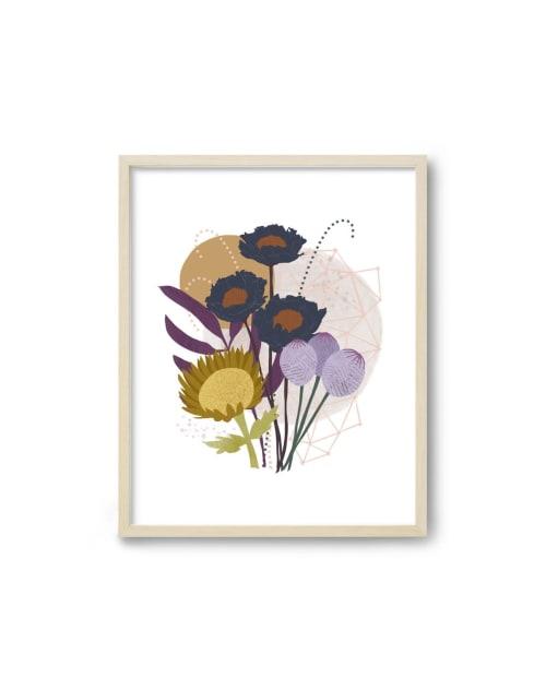 Paintings by Birdsong Prints seen at Creator's Studio, Denver - Scandinavian Modern Botanical Print