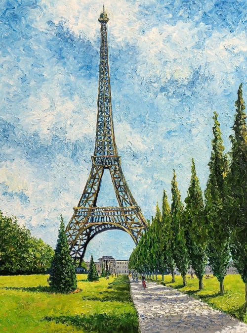 Paintings by Rob Crombie seen at Private Residence, Cuyahoga Falls - The Eiffel