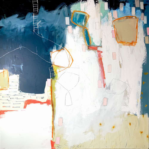 Paintings by Glenna Adkins seen at Private Residence, Lake Forest - Abstract painting
