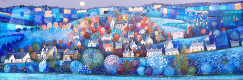 "Paintings by BLYTHE SCOTT seen at Private Residence, Chipping Norton - ""Under a Copper Moon'"
