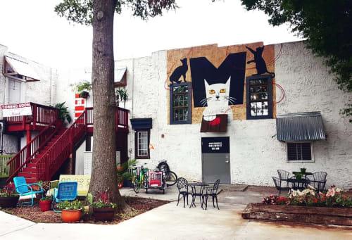 Murals by Osiris Rain Studios seen at Private Residence, Charlotte - Kitten Mural