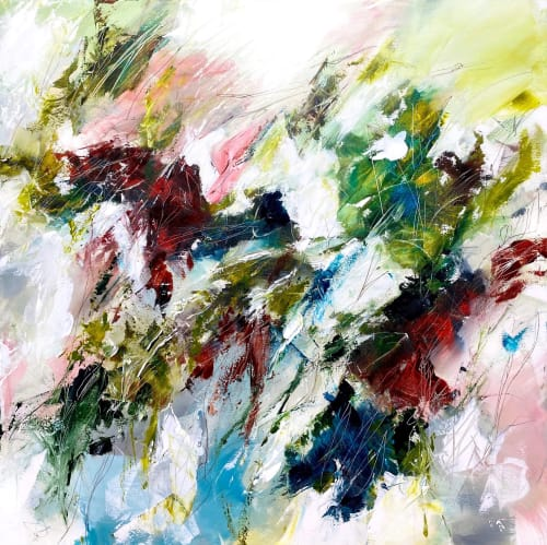 Paintings by Cristina Dalla Valentina seen at Private Residence, Krokkleiva - Eastern Wind /2