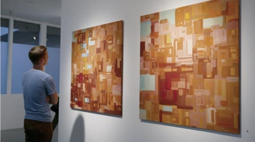 Paintings by Sara Marlowe Hall seen at Private Residence, Los Angeles - Sun1