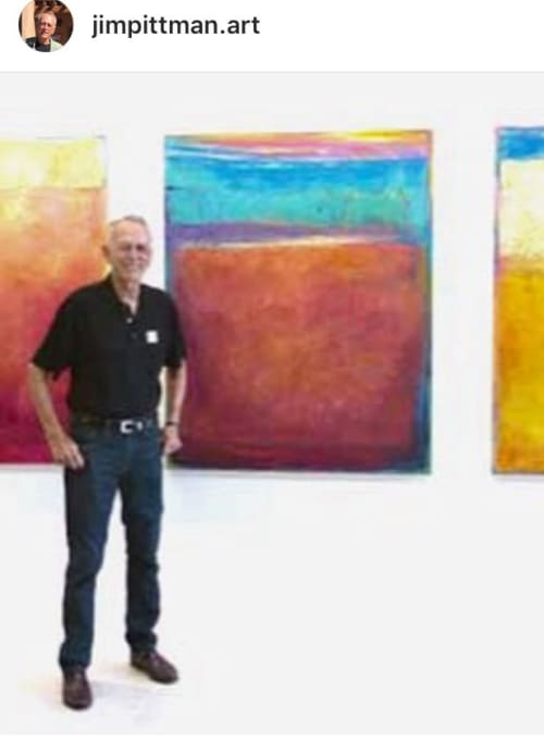 Jim Pittman - Paintings and Macrame Wall Hanging