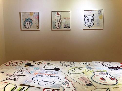 Murals by Bobo Yo seen at Eye Lounge, Phoenix - Eye Lounge Exhibition: Bobo and Friends