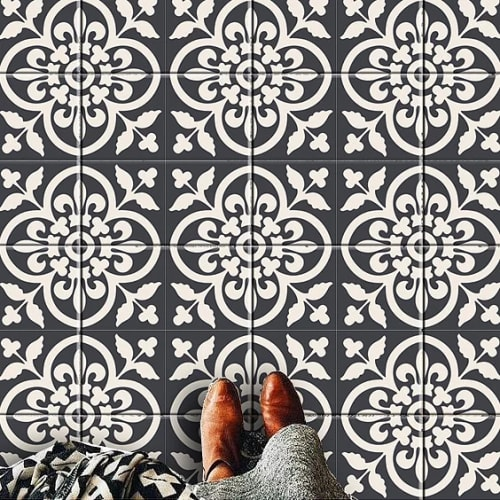 Tiles by BleUcoin at Private Residence, Redmond - Encaustic Moroccan