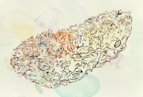 Paintings by Melissa Mohammadi seen at Private Residence, San Francisco - Womb and Rivers