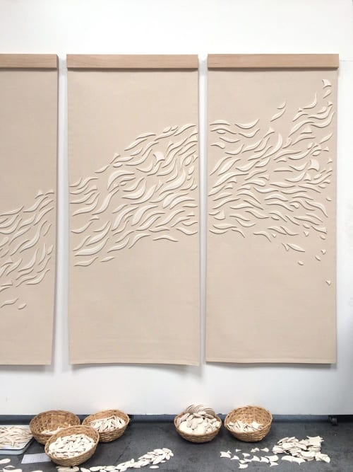 Wall Hangings by Anastasia Tumanova seen at Private Residence, San Francisco - Wildflower Tapestries