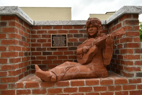 Public Sculptures by Brad Spencer seen at Mount Airy, Mount Airy - Whittlin' Wall