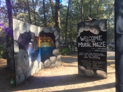 Murals by Annie Kyla Bennett Art seen at Hulaween 2018, Live Oak - Follow the Sun mural
