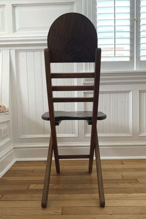 Chairs by Burghwood seen at Creator's Studio, Pittsburgh - Walnut Folding Chair