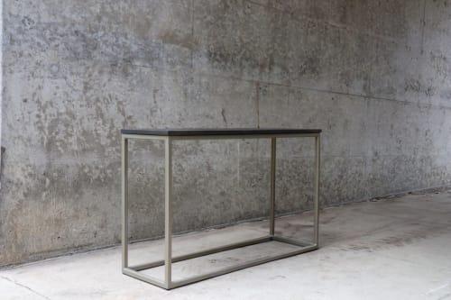Tables by Hazel Oak Farms - Modern Metal & Wood Console Table