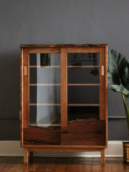 Furniture by David Brown seen at Private Residence, Fort Worth - LIve-Edge Hutch
