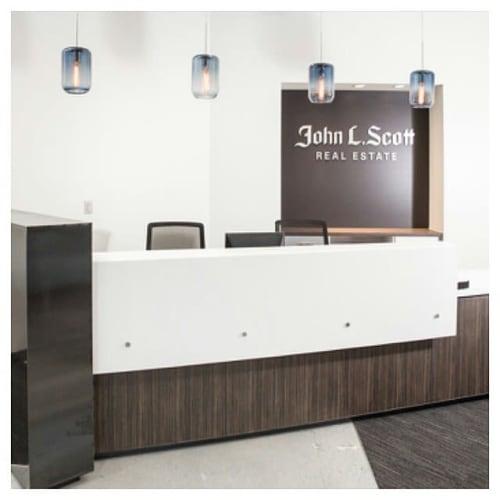 Furniture by Creoworks seen at John L. Scott Real Estate   Lake Bellevue, Bellevue - Reception desk