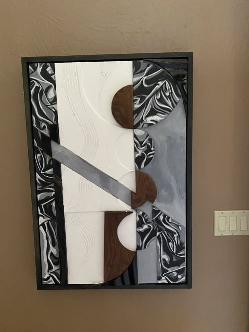 Art Curation by Trent Thompson seen at Private Residence, Danville - Reflection in Pieces