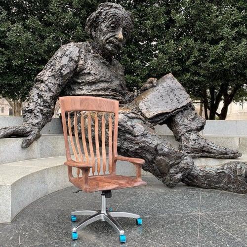 Chairs by Jeff Spugnardi Woodworking seen at Albert Einstein Memorial, Washington - Swivel Chair