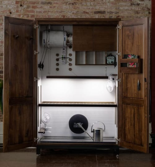 Furniture by Leaf & Wood seen at Private Residence, Brooklyn - Luxury Grow Cabinet