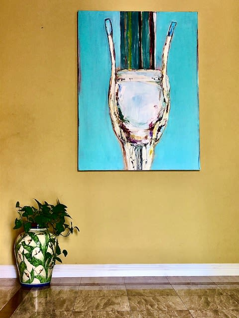 Paintings by Dalit Fresco seen at Private Residence, Thousand Oaks - Surrender: Front view