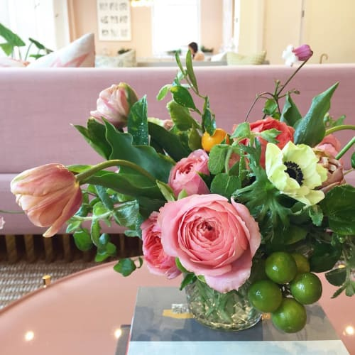 Floral Arrangements by Sachi Rose Floral Design seen at The Wing SF, San Francisco - Floral Design