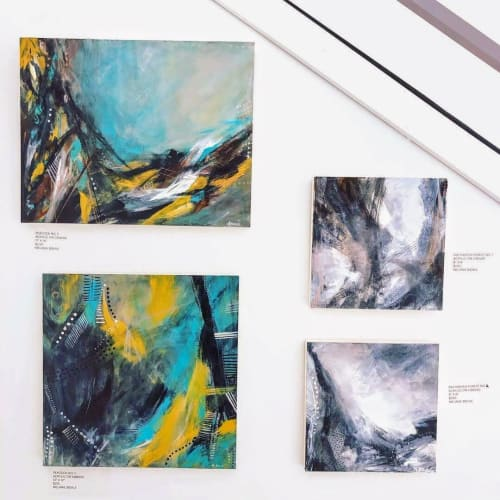 Paintings by Melanie Biehle seen at Seattle, Seattle - Peacock No. 2