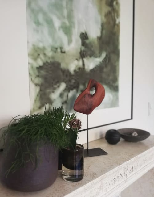 Sculptures by Lutz Hornischer seen at Private Residence, Düsseldorf - Small Wood Sculpture