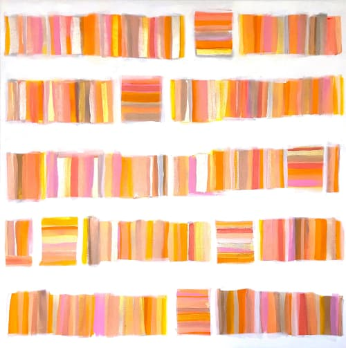 Paintings by Linnea Heide contemporary fine art seen at Private Residence, Tampa - 'CORAL GABLES' original abstract painting by Linnea Heide