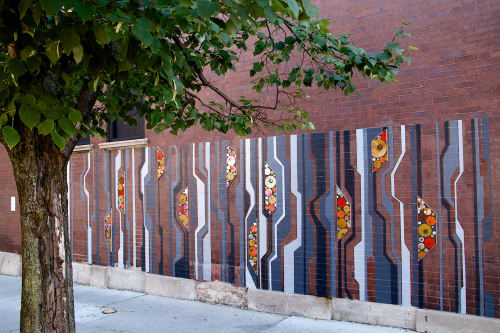 Street Murals by Heather Hancock seen at Chicago, IL, Chicago - Link | Public Art Mural