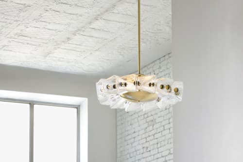 Chandeliers by Bianco Light + Space seen at The Future Perfect, New York - Polaris Chandelier