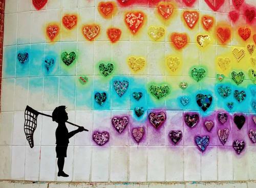 Public Mosaics by JK Mosaic, LLC seen at Choice Alternative School, Shelton - Diversity Mural in Shelton