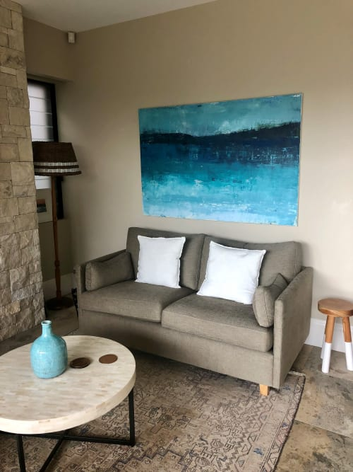Paintings by Linda Gleeson seen at Private Residence, Sydney - Blue