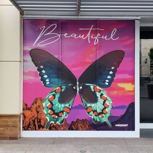 "Murals by Jerry Misko seen at Downtown Summerlin, Las Vegas - Summerlin ""Beautiful"" Installation"
