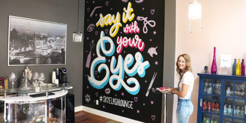 Murals by Reba Renee seen at Lashtastic of Louisville Eyelash Extensions, Louisville - Say It With Your Eyes
