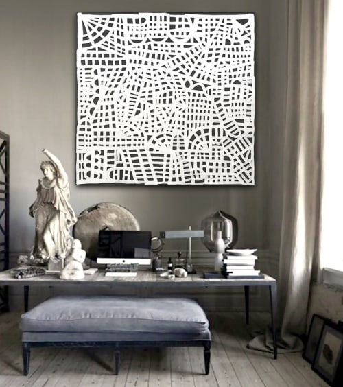 Paintings by Linnea Heide contemporary fine art seen at Private Residence - 'PARiS' original abstract painting by Linnea Heide