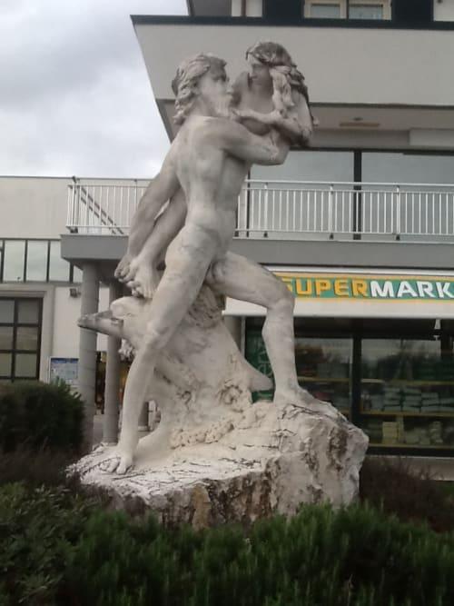 Sculptures by John Fisher Sculptures seen at Querceta, Querceta - La Galatea